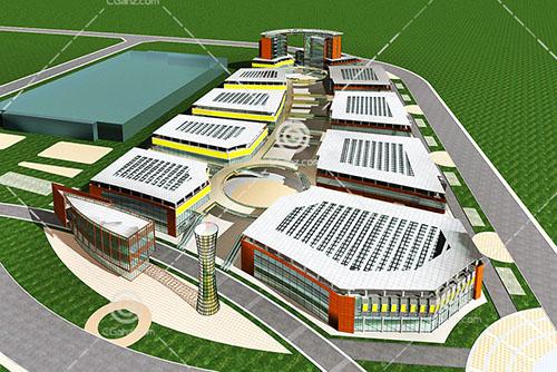 现代大型商场3D模型下载
