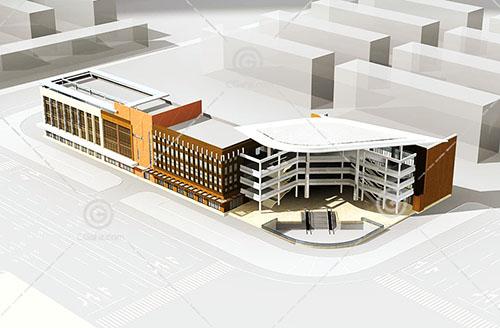 简单的沿街商业综合体3D模型下载