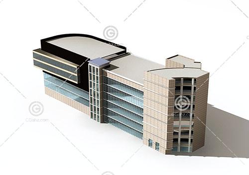 常见的商业综合体3D模型下载