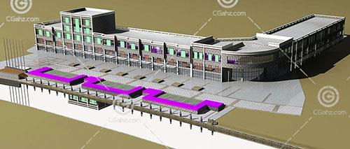 常见的商业街3D模型下载
