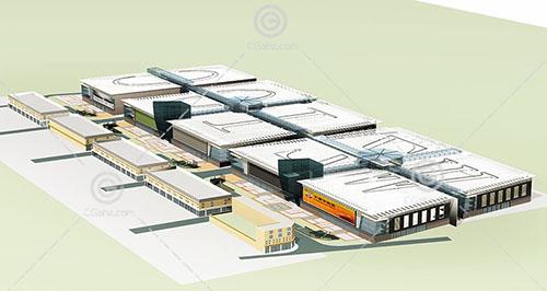 现代的大型商业综合体模型下载
