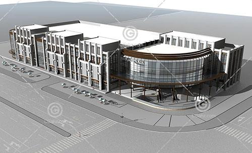 沿街商业综合体模型下载