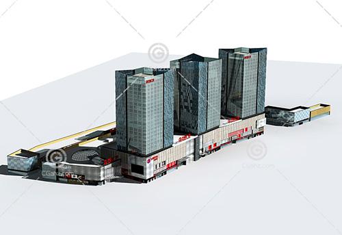 万达广场模型下载