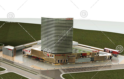 万达广场3D模型下载