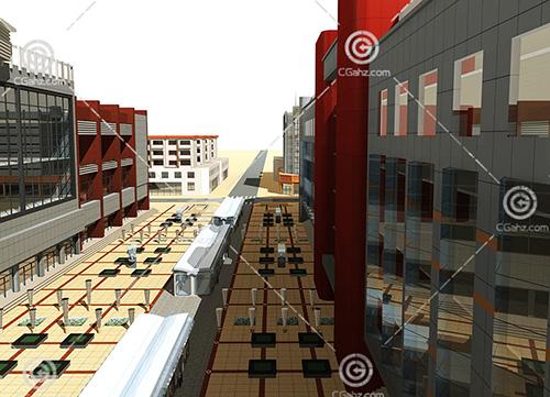 商业一条街3D模型下载