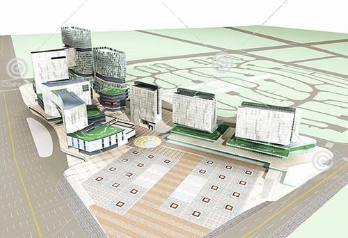 现代大型商业中心3D模型下载