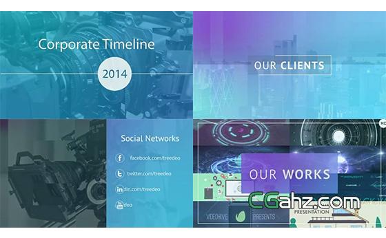 内容完整的现代企业商务宣传视频AE模板