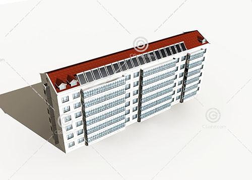 简单的横排多层住宅模型下载