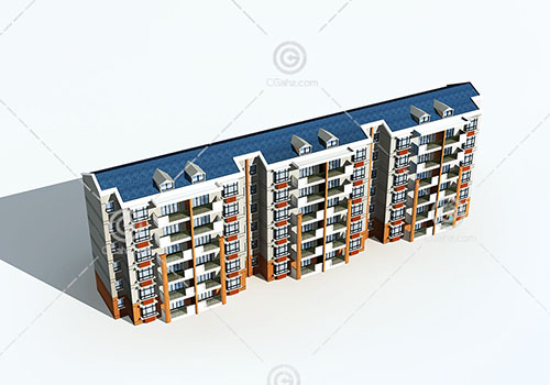 横排多层住宅3D模型下载