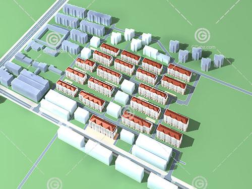 常见的多层住宅小区3D模型下载