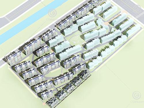 常见的多层安置房小区3D模型下载