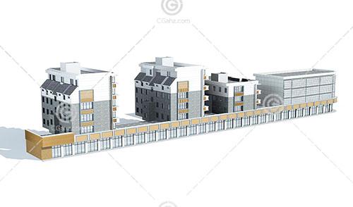 新中式的商业街模型下载