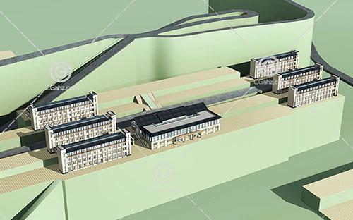 新中式的多层住宅小区3D模型下载