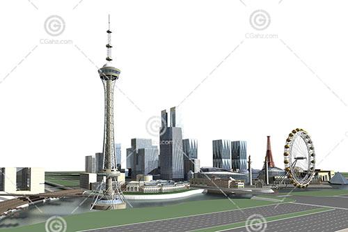 高层建筑群3D模型下载