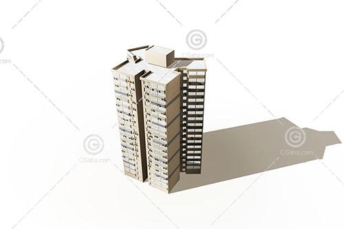 简单的高层住宅楼3D模型下载