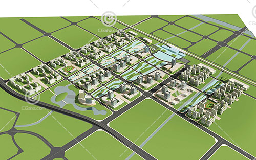 大型多层住宅小区模型下载