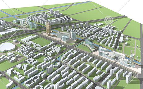 城市规划用地3D模型下载