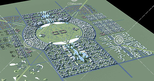 大型规划区3D模型下载
