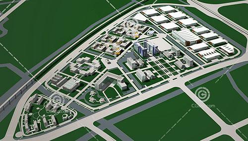 规划区3D模型下载