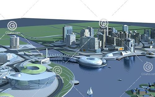 城市建筑群3D模型下载