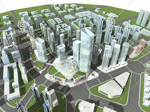 城市建筑群规划模型下载