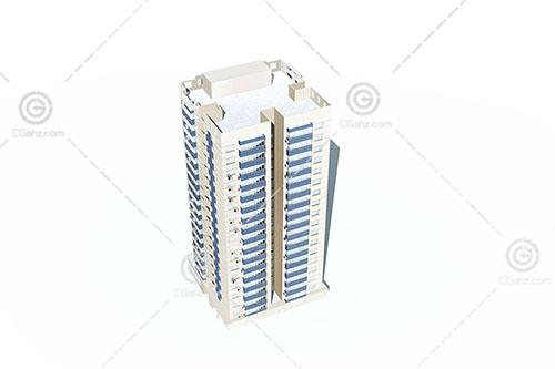 独栋高层住宅楼3D模型下载