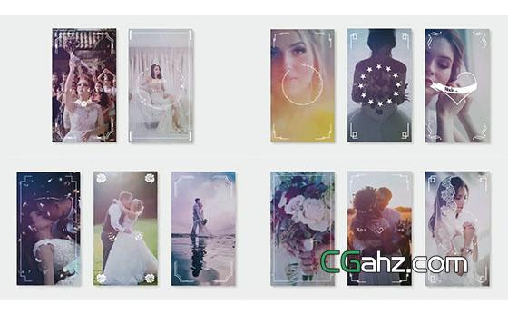 唯美小清新风格的婚礼主题设计AE模板