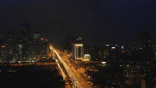 北京夜景視頻素材