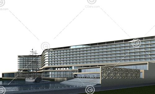 大型酒店式公寓3D模型下载