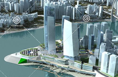 江边大酒店3D模型下载
