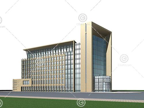 现代简单的大酒店模型下载