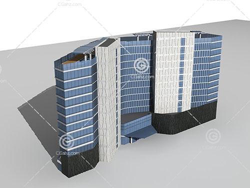 解构主义的酒店3D模型下载