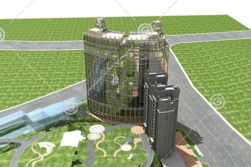 法式大酒店3D模型下载