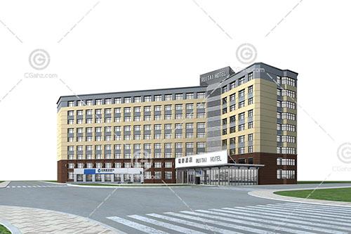 简单的酒店3D模型下载