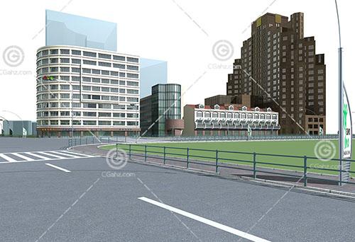 簡單的歐式大酒店3D模型下載