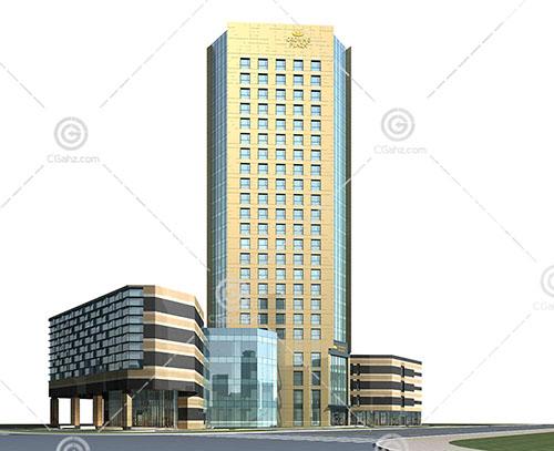 现代简洁的大酒店模型下载