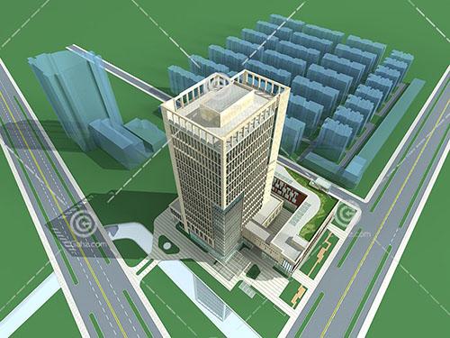 常见的现代大酒店3D模型下载