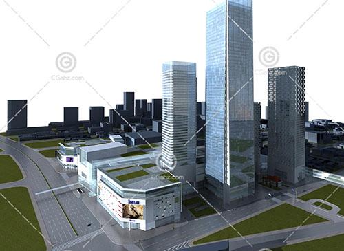 常见的现代大型商业综合体3D模型下载