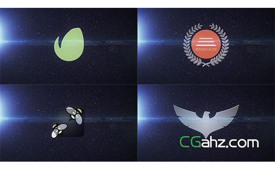 logo标志的快速变形演绎特效AE模板