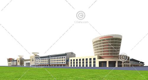 新中式的大型商业综合体3D模型下载