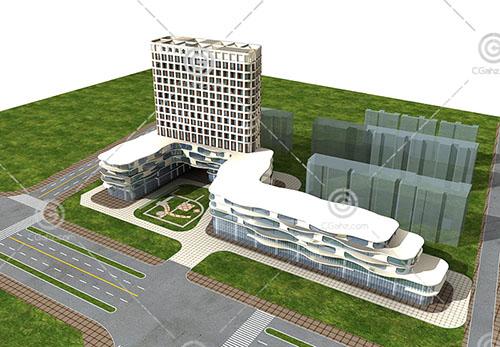 智海商业广场3D模型下载
