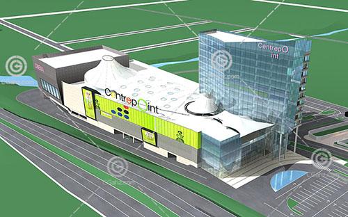 现代大型商业综合体建筑模型下载