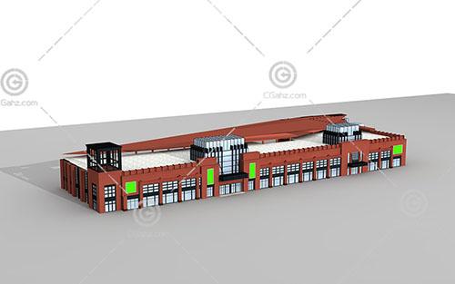 简单的双层商业综合体3D模型下载