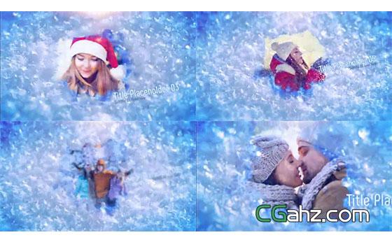 让冰雪融化的温情记忆照片展示AE模板