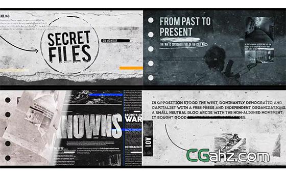秘密档案,神秘悬疑风格图文排版动画AE模板