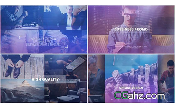现代企业商务主题宣传推广视频AE模