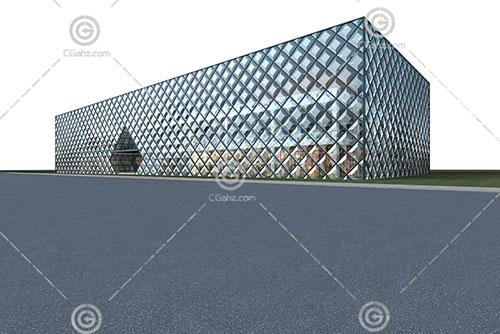 立方体的商业综合体3D模型下载