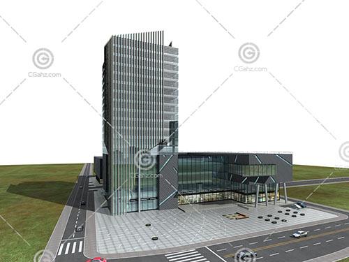 现代高层商业综合体建筑模型下载