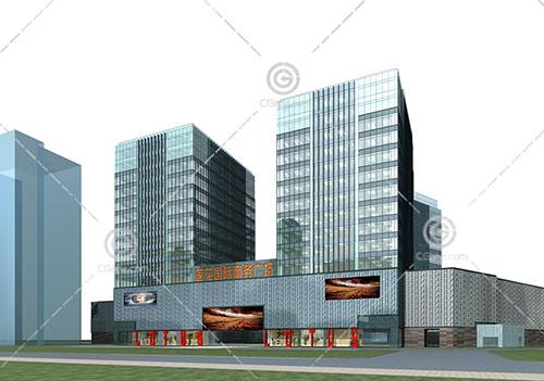 莲花国际商务广场3D模型下载