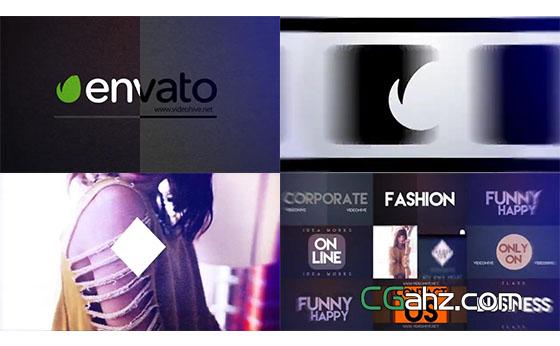 时尚炫酷片头动画AE模板,快速的图像和文字展示